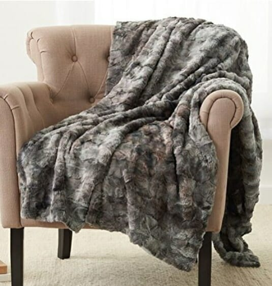 Cozy faux fur throw