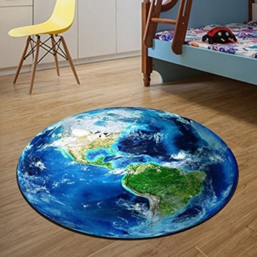 Space carpet for boys bedroom