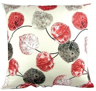 Cushion cover red and white