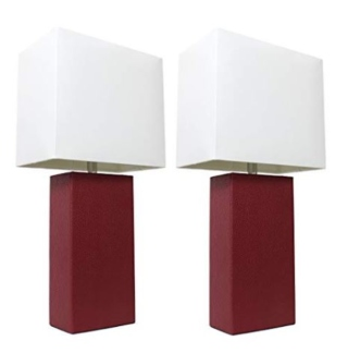 Red table lamps for your living room
