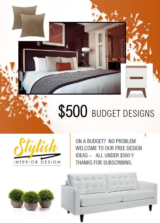 $500 Budget Room Designs