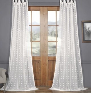 Faux Linen Sheer Curtain